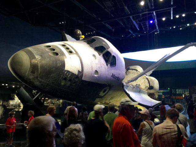 Rumfærgen Atlantis som har været 33 gange i Space