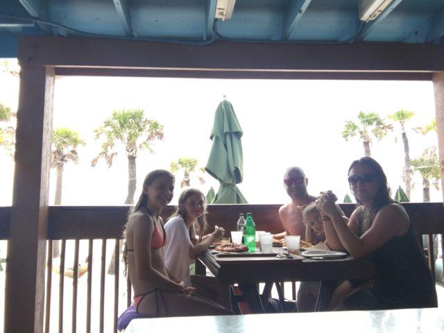 Frokost på strandbaren i Clearwater Beach